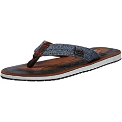 Sparx Men's Brown and White Flip-Flops and House Slippers - 9 UK/India (43 EU)(SF0037G)