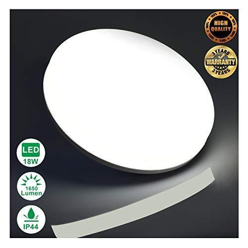 Impermeable Redonda Lámpara Eficiente Techo Plafones 5000k Para Blanco Ip44 De 1650lm Billante Frío Energía Luz Baño Led 18w Airand 8nN0wOymv