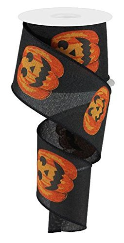 Halloween schwarz orange JACK O Laterne Kürbis Ribbon: Weiß & Orange 6,3cm X 10Meter
