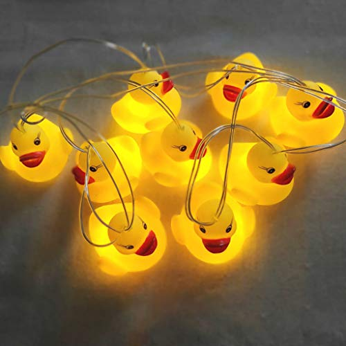 Blobboy - Cadena de luces LED con forma de pato amarillo para...
