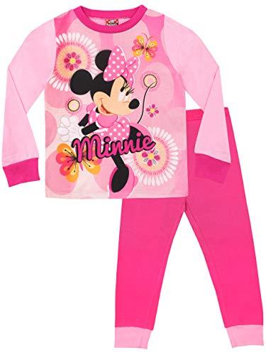 Disney Mädchen Minni Maus Schlafanzug Mehrfarbig 110 (Pyjama Mädchen Disney)