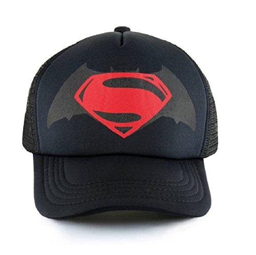 Michelangelo Black Superman Half NET Cap for Men/Girl/Womens Unisex Cap
