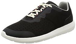 Clarks Mens Torset Vibe Black Leather Nordic Walking Shoes - 9 UK/India (43 EU)