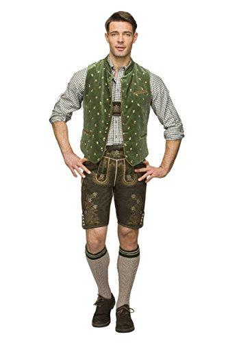 Stockerpoint - Herren Trachten Weste in verschiedenen Farbtönen, Calzado, Größe:56, Farbe:Moosgrün - 2