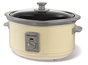 Morphy Richards 48719 Oval Slow Cooker 3.5 Litre, Cream