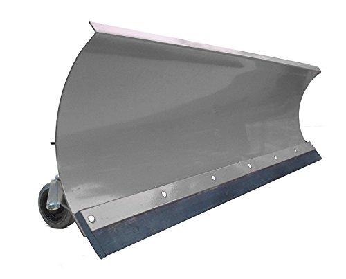 Schneepflug Räumschild Universal Schneeschild für Einachser, Rasentraktor oder Quad / ATV Grau / 125 x 40 cm / 5 Stufen verstellbar