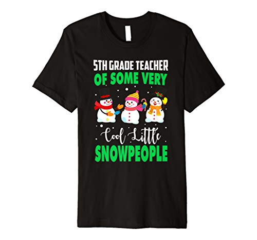 5. Klasse Lehrer von Cool Little snowpeople T-Shirt Xmas Tee