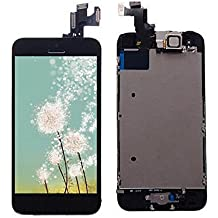 LCD Pantalla Táctil Reemplazo Completo de Pantalla con Botón de Inicio y Cámara de Alta Calidad Nuevo (Negro-Iphone 5 C)