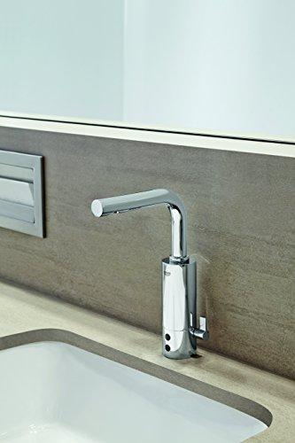 Grohe – IR Infrarot Waschbecken-Sensorarmatur, Kalt- und Warmwasser, mit Steckertrafo, Chrom, Essence E - 5