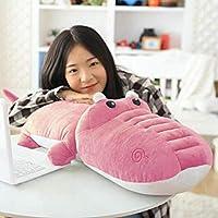 DearJoy Crocodile Shape Baby Pillow (Pink)