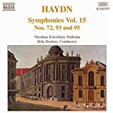 Haydn : Symphonies Nos. 72,93 and 95 (Vol 15)