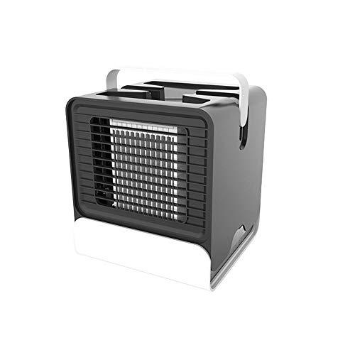 lage tragbare Mini USB Luftkühler Mini Klimaanlage Ventilator Luftbefeuchtung, Mit Nachtlicht, Geeignet für Zuhause, Büro, Outdoor Black ()
