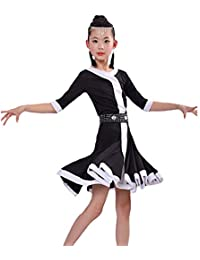 YONGMEI Disfraces de baile - Vestido de baile latino para niños Ropa de  práctica latina para 2488c4bf819a3