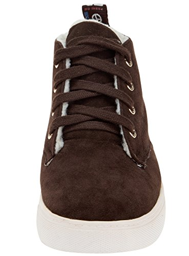 oodji Ultra Femme Chaussures Chaudes en Suédine Marron (3900N)