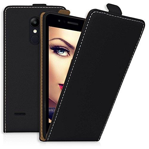 mtb more energy Flip-Case Tasche für LG K9 (5.0'') | Schwarz | Kunstleder | Schutz-Tasche Cover Hülle