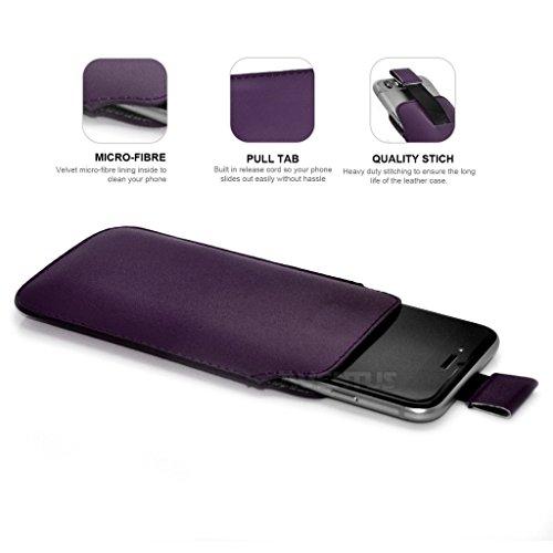 Aventus (Nero) Apple iPhone 7 Pro Custodia Protettiva Pull Tab Cord in Finta Pelle per Cellulare Rimovibile con Cucita Banda Estraibile Verde
