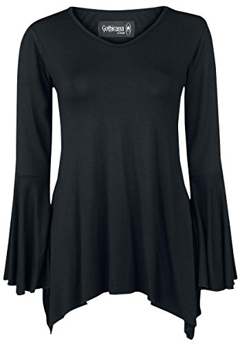 Gothicana by EMP Bat Longsleeve Manica lunga donna nero S