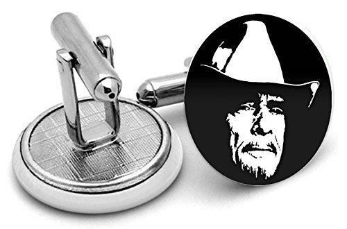 Merle Haggard boutons de manchette - Livré dans pochette cadeau
