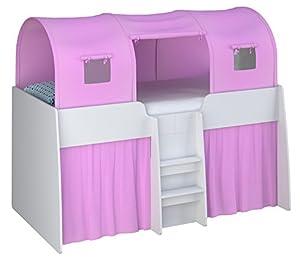 Kidsaw 3 Parts Tent, Wood, Pink, 195 x 90 x 70 cm
