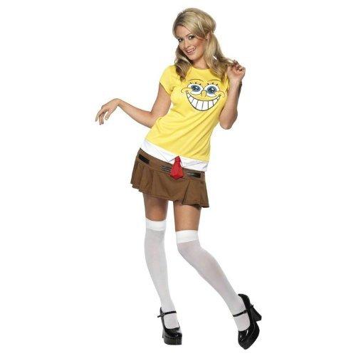 SpongeBob™-Kostüm für Damen - - Spongebob Schwammkopf Und Patrick Kostüm