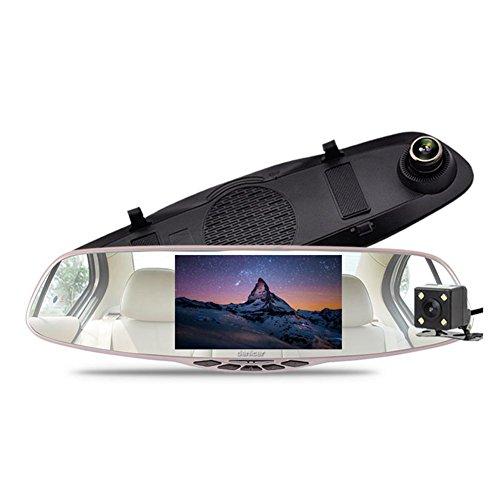 Kulio Full HD 1080p 10,9cm Rückspiegel Dash Cam mit Auto Recorder und Reverse Parking System, Auto Rear View Backup Kamera