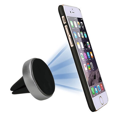 StikGo - Soporte móvil para coche DISK XL magnético, Pinza universal para sujetar cualquier móvil o GPS a las rendijas del coche