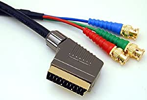 Scart To 3 BNC RGSB Or Component 10m