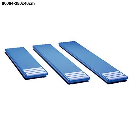 00064 tables pour trampolines Largeur 0,46m couleur blanc. longueur 2,5m Polyester et de fibres de verre.