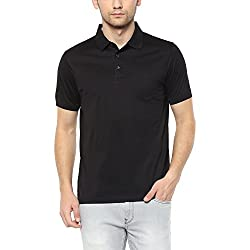 Indian Terrain Mens Solid Regular Fit T-Shirt (ITA17TSK304-8907633777441_Black_L)