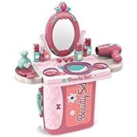 9933 Enterprise Children Beauty Makeup Kit Pretend Play Fashion Set Toy with Carry case Suitcase Trolley, Light and…