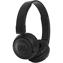 JBL T450BT Extra Bass Wireless On-Ear Headphones with Mic (Black)