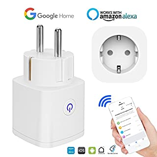 Zeitschaltuhr WLAN Smart Steckdose Funksteckdose | Weekly Digital Timer | Wireless Control Ihre Haushaltsgeräte von überall, kompatibel mit Alexa, Google Home und IFTTT Unterstützt 2.4GHz Netzwerk