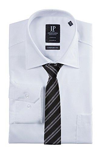 JP1880 Herren große Größen | Business-Hemd | langarm, Comfort-Fit, Baumwolle | 703622 Weiß
