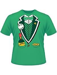 Vert St Patrick's Day Short Sleeve 100% Cotton Leprechaun Suit T-Shirt-Large