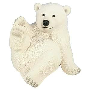 Figurine Ours blanc L 52 cm animaux plastique