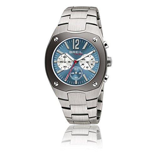 Uhr Breil Tribe Herren TW0387Quarz (Batterie) Stahl Quandrante hellblau Armband Stahl