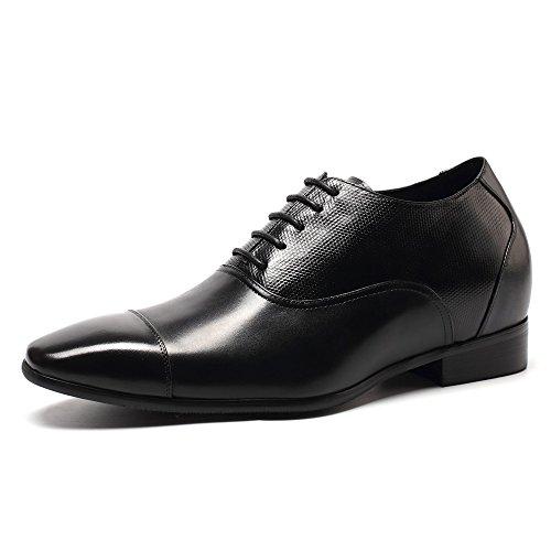 Chamaripa mocassini scarpe con rialzo eleganti derby uomodi pelle per tempo affari commerciali fino a 7.5 cm - k4020