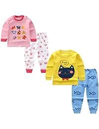 DEYOU - Conjunto térmico de capa base para niños y niñas, ropa interior térmica larga y pantalones largos, pijama térmico para vestir