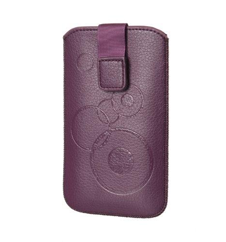Handytasche Circle für Samsung Galaxy S5 G900F Handy Etui Schutz Hülle Cover Slim Case violett (lila) mit Klettverschluss