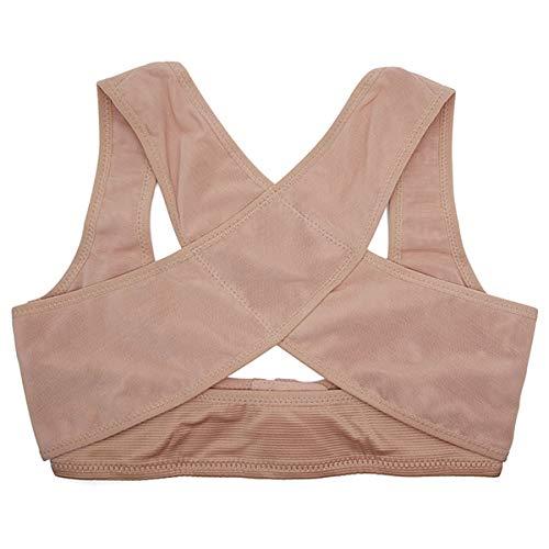Domeilleur Damen Bruststützgürtel Bandage Büste Rückenteil Schultergurt Weste, beige, M -