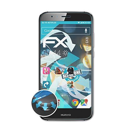 atFolix Schutzfolie passend für Huawei GX8 Folie, ultraklare & Flexible FX Bildschirmschutzfolie (3X)