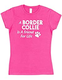 Click My Clobber Womens, T-Shirt, A Border Collie Is A Friend For Life