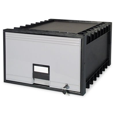 Storex Archive tiroir pour Legal fichiers Boîte de rangement, 61 cm, Noir/gris (Stx61155u01 C)