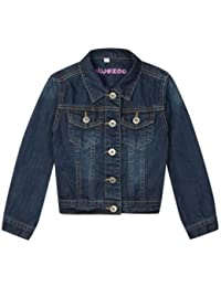 Bluezoo Kids Girl's Dark Blue Denim Jacket
