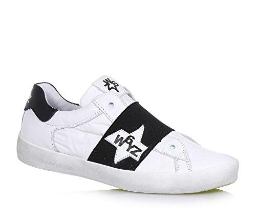 W6YZ - Zapatos de cordones para mujer, color plateado, talla 39 EU