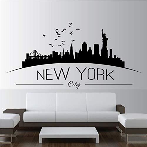 Knncch Wohnkultur Große Nyc New York City Skyline Wandtattoos Stadt Skyline Silhouette Wandaufkleber Home Schlafzimmer Dekoration