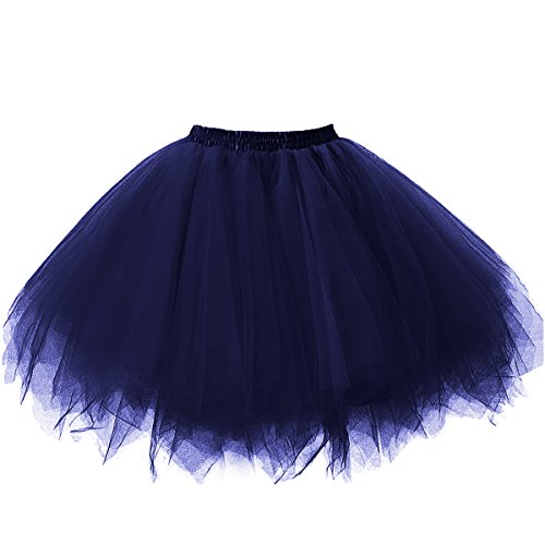 intage Petticoat Party Dance Tutu Rock Ballkleid Navy S/M (Blau Tutu Für Frauen)