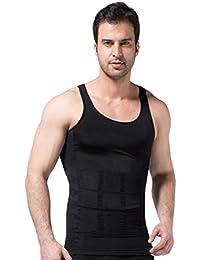 Ducomi Bodyslim - Chaleco para Hombre - Ropa Interior de Efecto Adelgazante Elástico y Formar para el Vientre y la Pérdida de Peso y Grasa - Previene el Dolor de Espalda y Lumbares