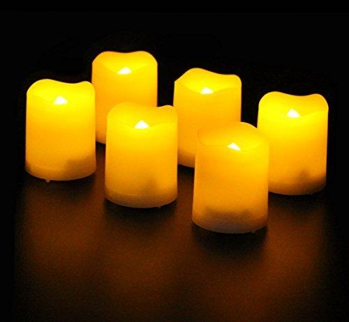 Frostfire Mooncandles - six Kerzen für innen und aussen mit Timer