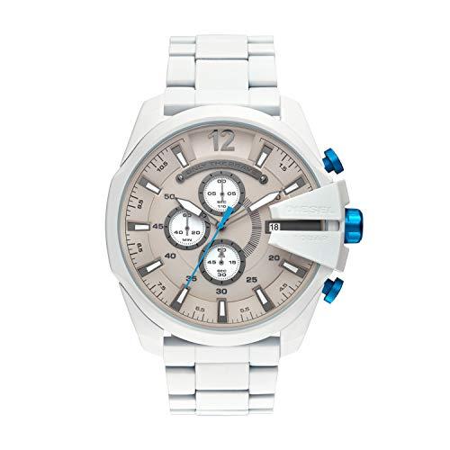 Diesel Herren Chronograph Quarz Uhr mit Edelstahl Armband DZ4502